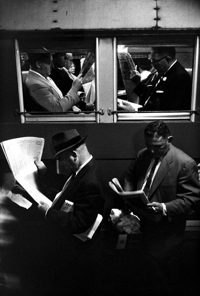Penn Station, 1958 (by Louis Stettner).