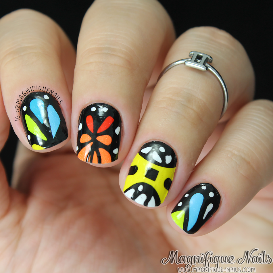 Gemini: @goscratchit  Nail Wraps #nails #nailart #butterflies