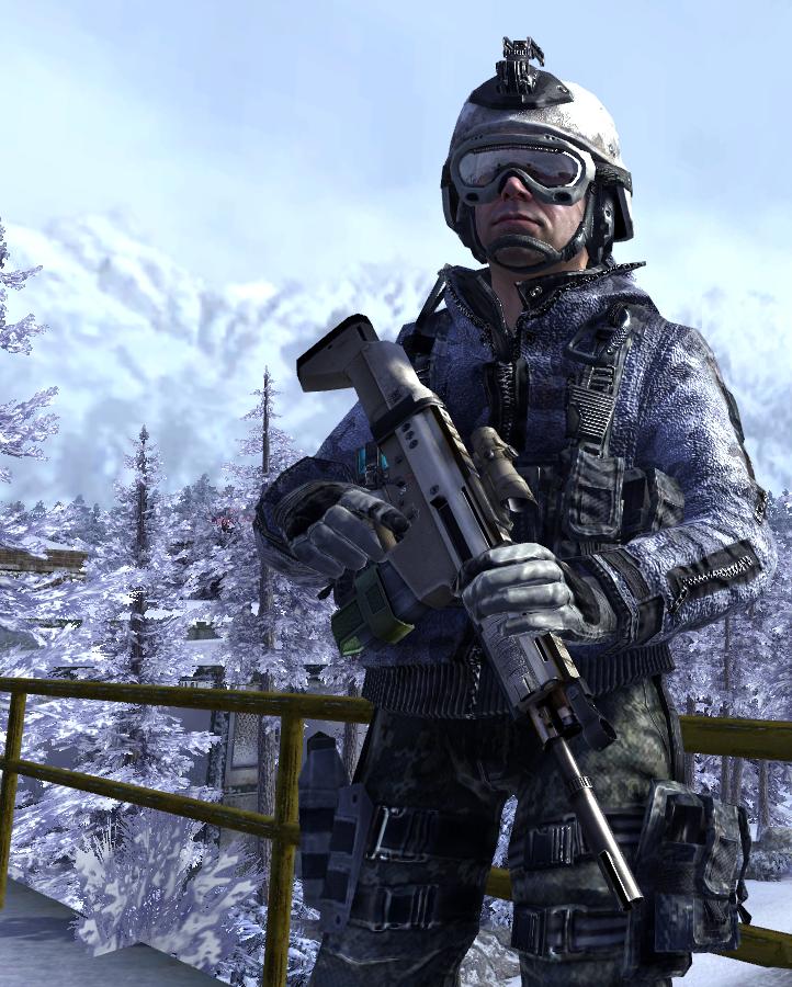 Call Of Duty Modern Warfare 2 Avatar Task Force 141 Militar Videojuegos Policia