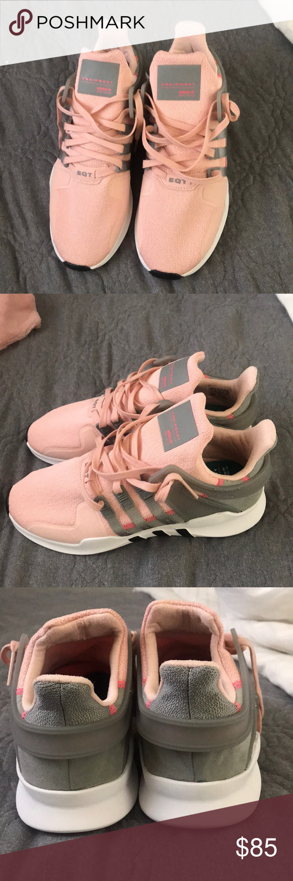 sports shoes 8f97e 719b0 Adidas EQT Support ADV Girls grade school vapor pinkgray these are new  only tried on they are size 7 in big girl size and fit women 8 no box.
