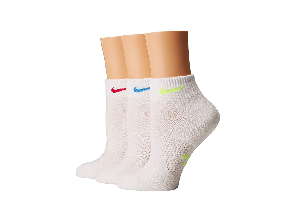 elige genuino mejor calidad códigos de cupón Nike Performance Cushioned Quarter Training Socks 3-Pair Pack ...