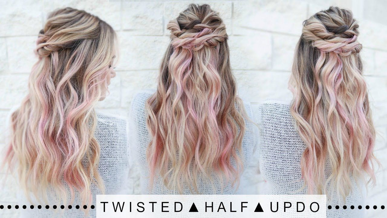 Twisted Half Updo Hairstyle | SUPER EASY!