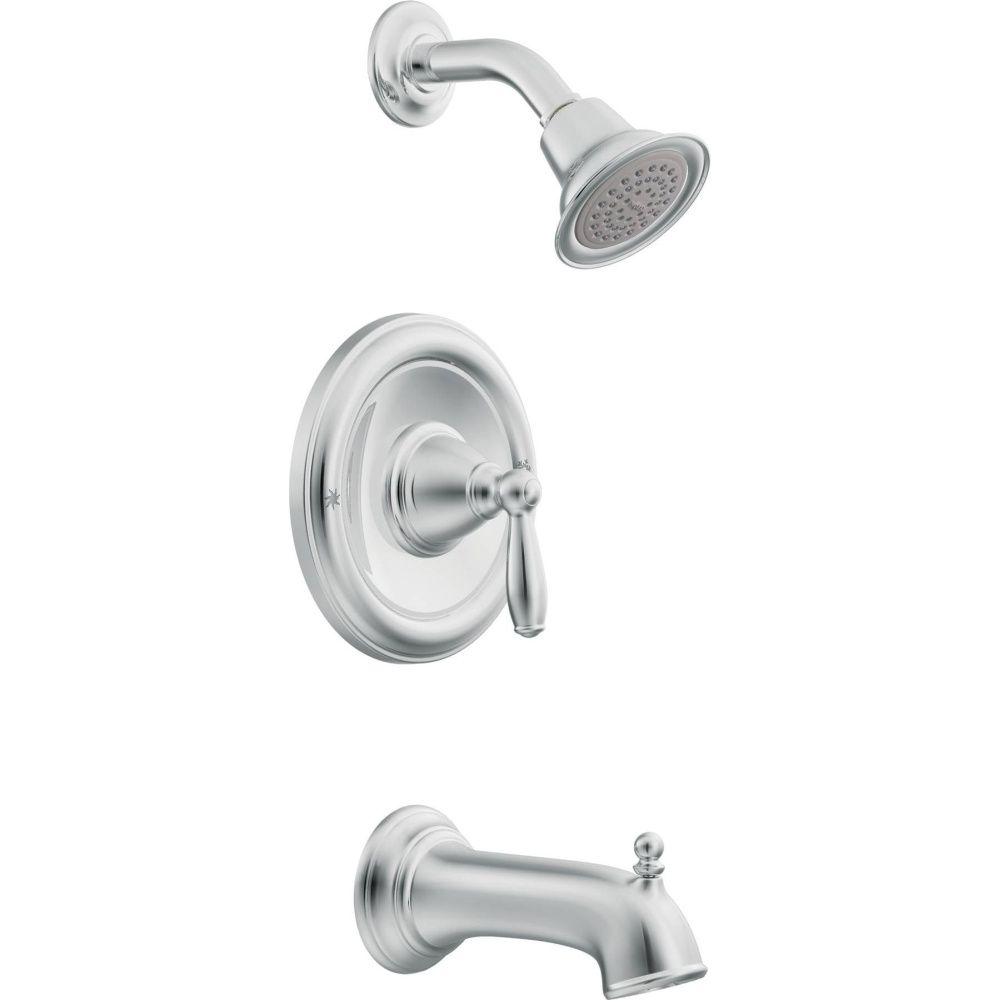 Awesome Moen T62153 Brantford Polished Chrome One Handle Tub U0026 Shower Faucets |  EFaucets.com