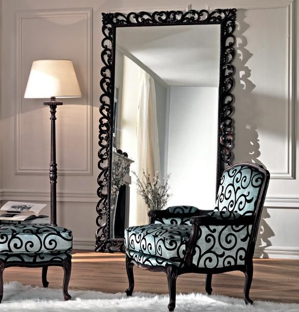 Living Room Home Decor Metal Framed Floor Mirror Attractive Beverly Large For Black Fireplace Conversions Futon Loveseat Swing Glider Sofa Disembly