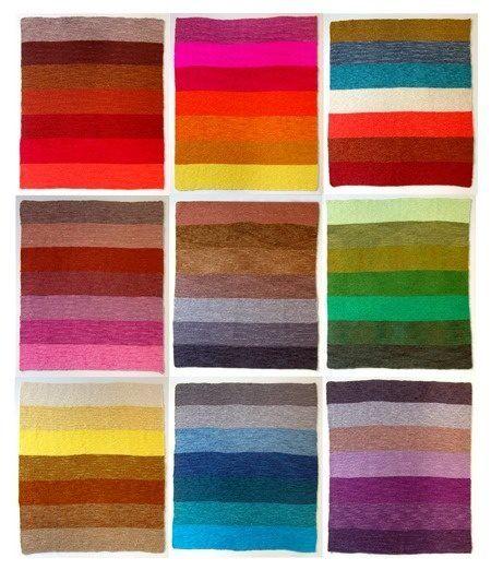 Mezcla De Colores Para Mantas Mantas De Puntos Mantas Tejidas Purl Bee