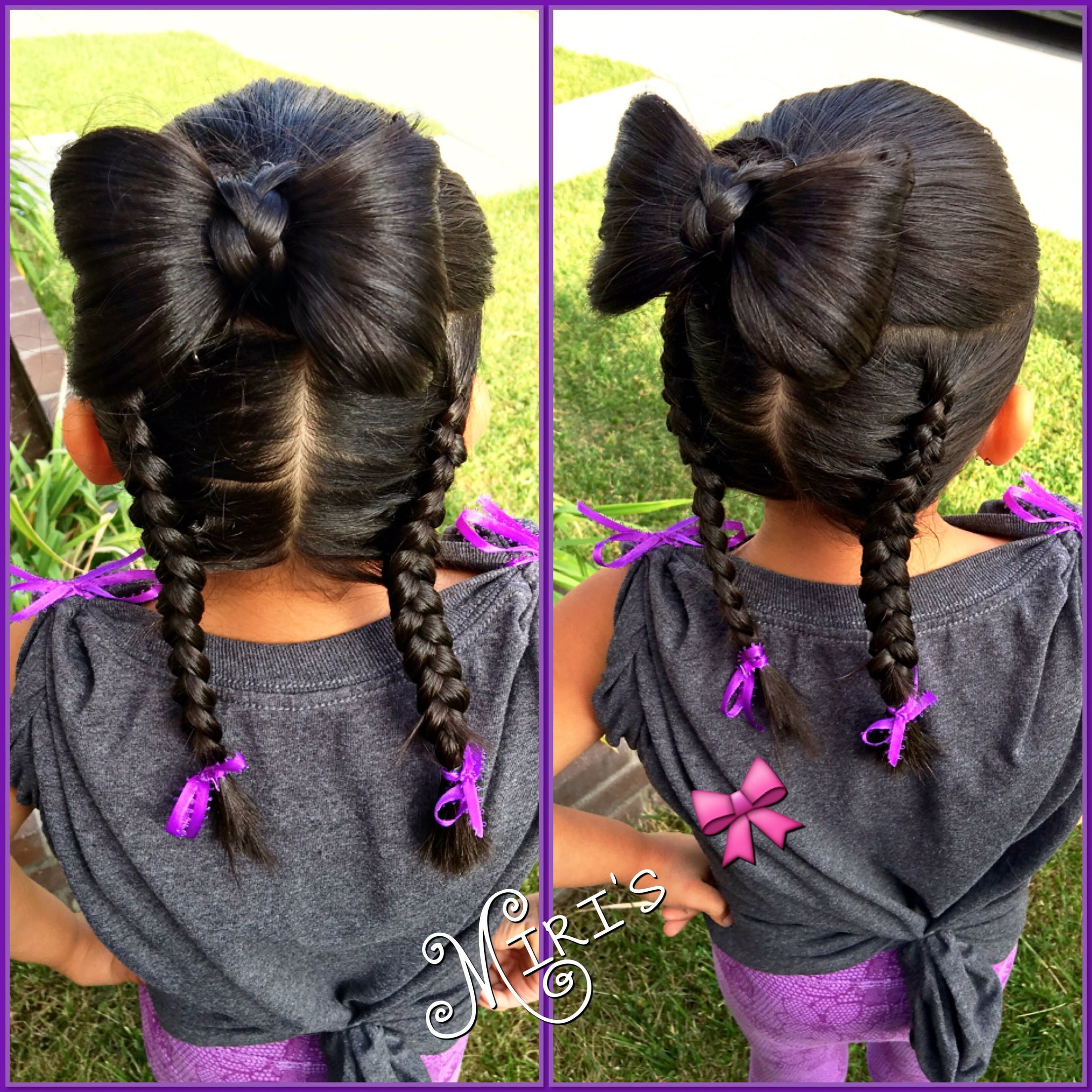 Bow hair style for little girls hairstyles for my girls