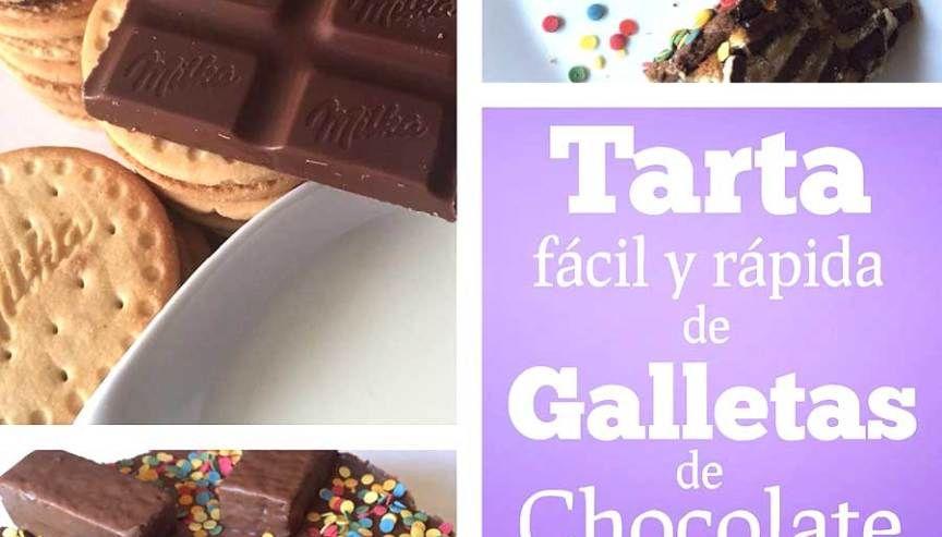 Tarta Fácil Y Rápida De Galletas De Chocolate Milka Tartas Faciles Y Rapidas Galletas De Chocolate Chocolate Milka