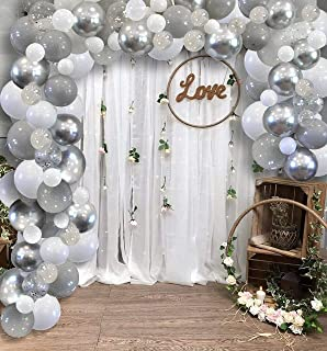 ballons Silver party decorations