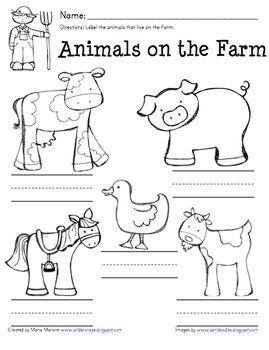 farm animal labeling worksheet great for invented spelling at school farm unit farm. Black Bedroom Furniture Sets. Home Design Ideas