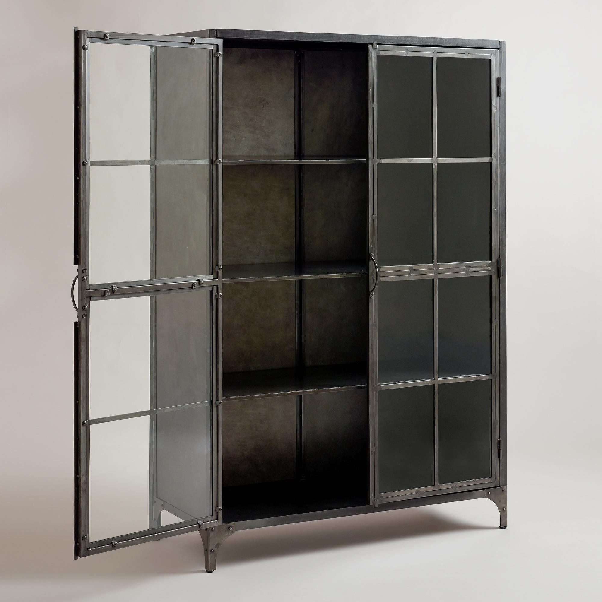 Kitchen Shelf Display: Metal Display Cabinet