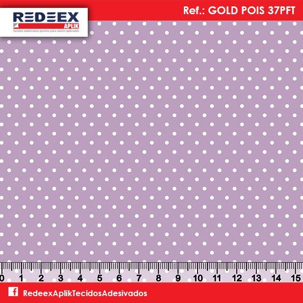 Estampa Mini Pois (Poá) Lilás | Desenho GOLD POIS 37PFT. Disponibilidade de Larguras e Comprimentos sob consulta!