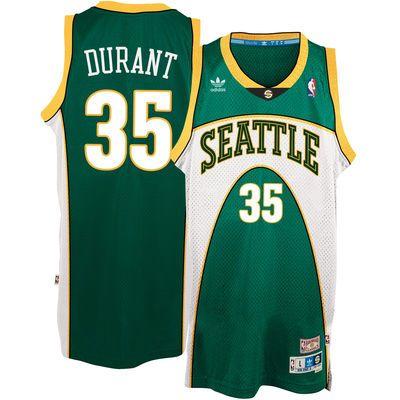 Kevin Durant Seattle SuperSonics adidas Throwback Road Hardwood Classics  Swingman climacool Jersey - Green