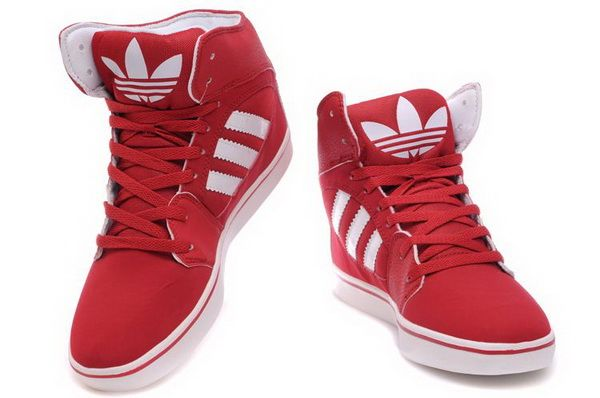 Adidas High Top Red Shoes