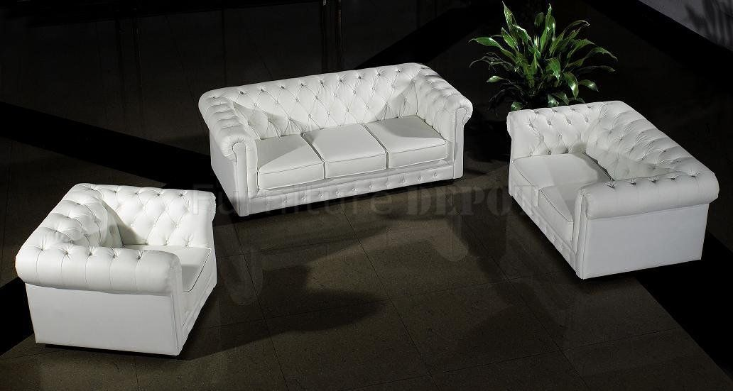 contemporary italian off white leather living room set | White Top ...