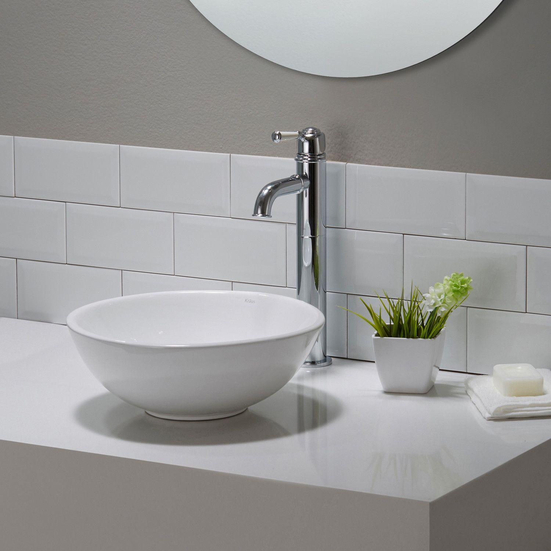 wonderful Wayfair Vessel Sinks Part - 5: Kraus Elavo™ Ceramic Round Vessel Bathroom Sink u0026 Reviews | Wayfair