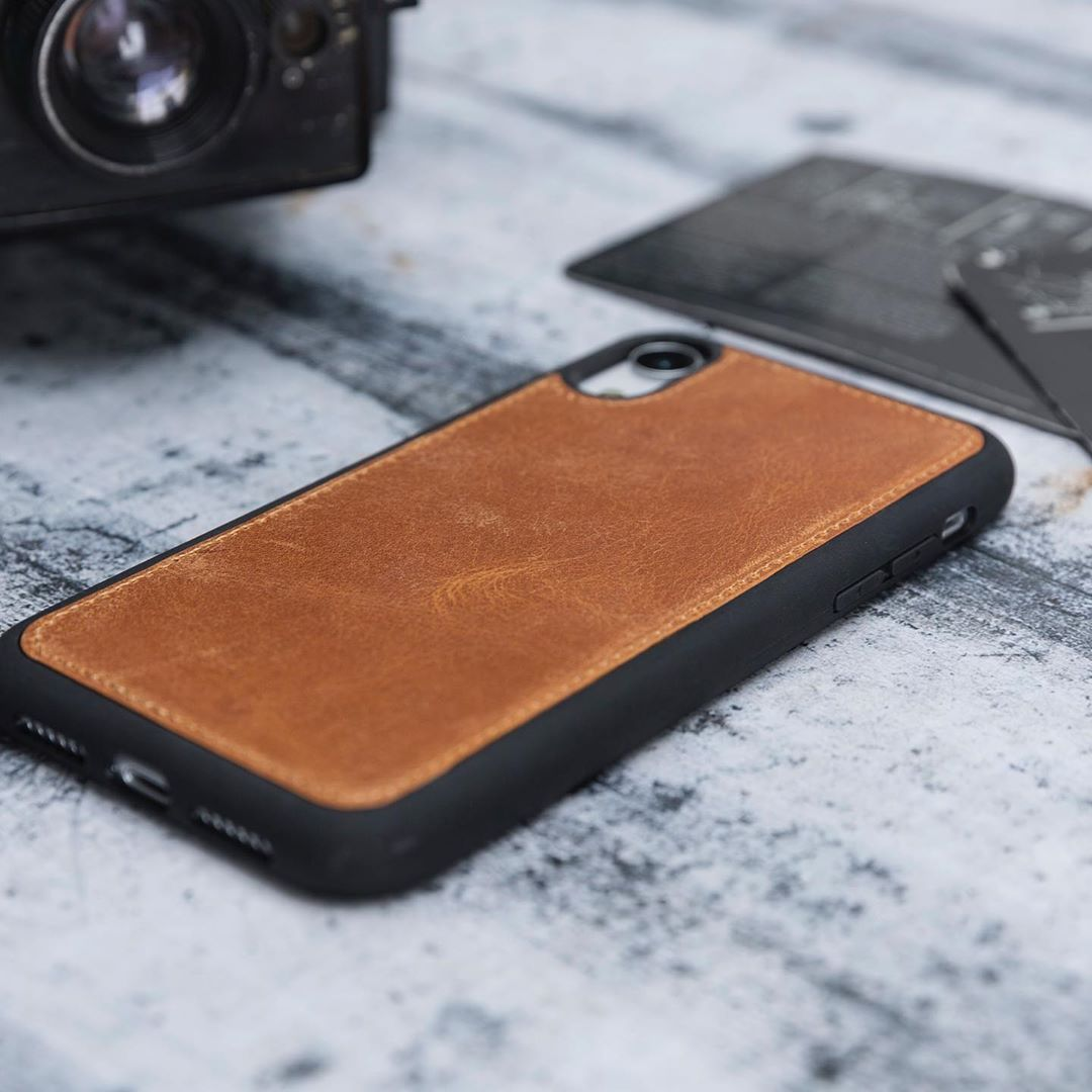 Cc bros design genuinereal cow leather iphone xr