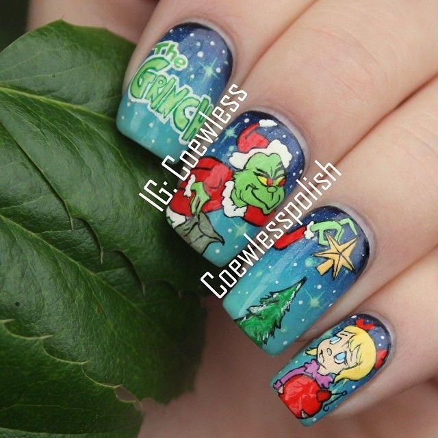 Grinch | Nails | Pinterest