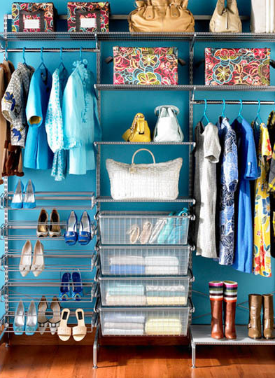 I like the idea of painting the inside of my closet a fun or bold or cheerful or even serene color. Makes me happy every time I open the door.