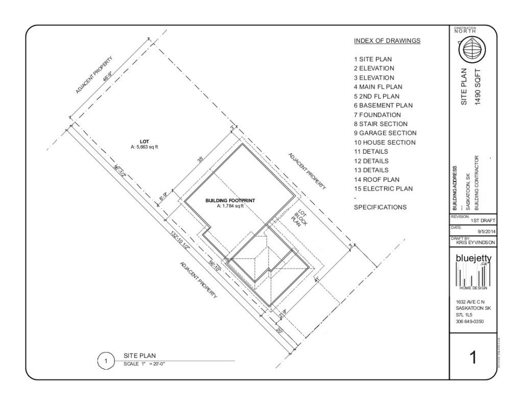 A Site Plan Example 2014 Site Plan How To Plan Construction Plan