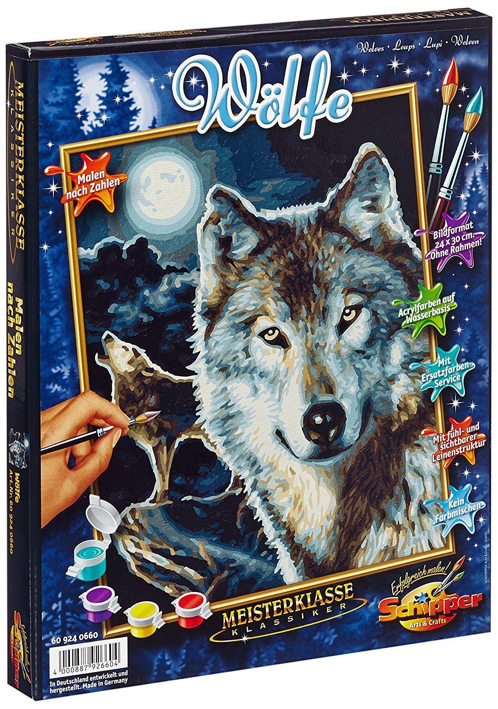 Schipper 609240660 - Malen nach Zahlen, Wölfe, 24 x 30 cm: Amazon.de ...