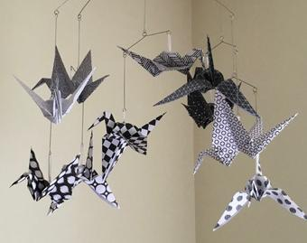 Photo of Black and white baby mobile | Etsy