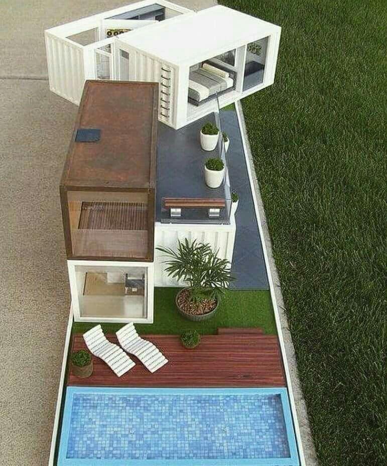 Maison de Poupées (Maquette via Archi-Art) | Plans maison container, Maison de poupées moderne ...