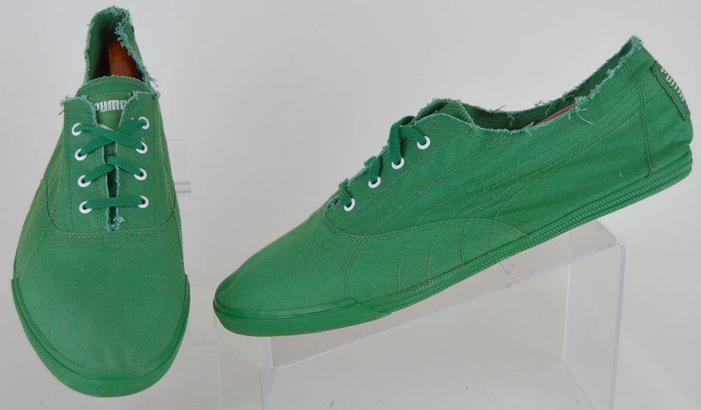 Puma Eco Ortholite solid green canvas