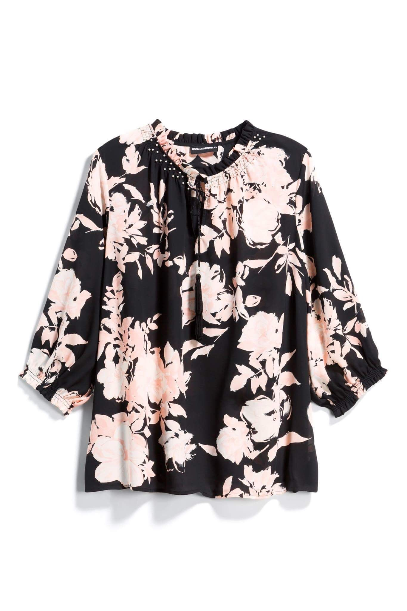 I Adore This Black And Pink Floral Blouse From Stitch Fix Sign Up