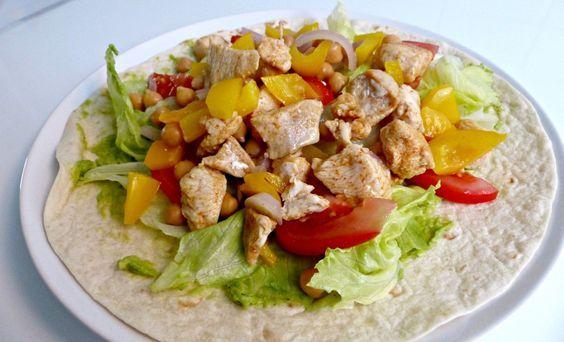Recept: Wrap met Kip en Kikkererwten | Optima Vita