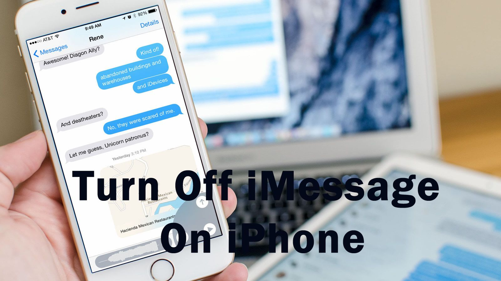 How To Disable iMessage On iPhone Iphone, Imessage
