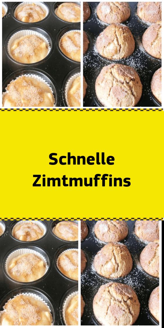 Schnelle Zimtmuffins #apfelrosenmuffins