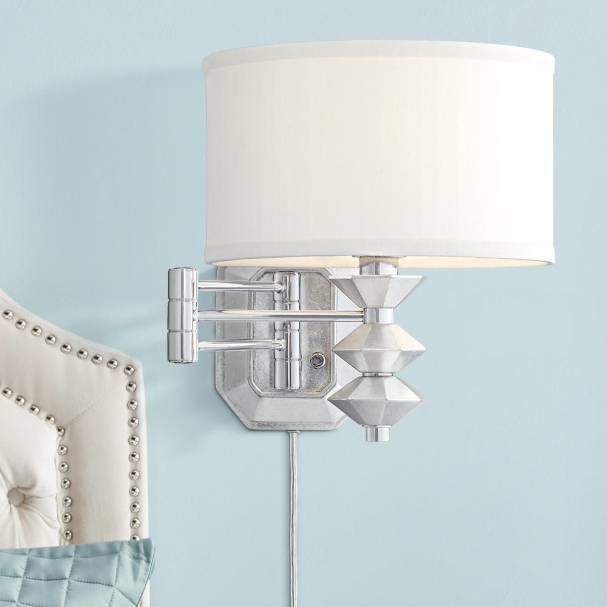 Wall Lamps Possini Euro Currie Chrome Swing Arm Wall Lamp In 2020 Swing Arm Wall Lamps Wall Lamp Wall Lamp Design