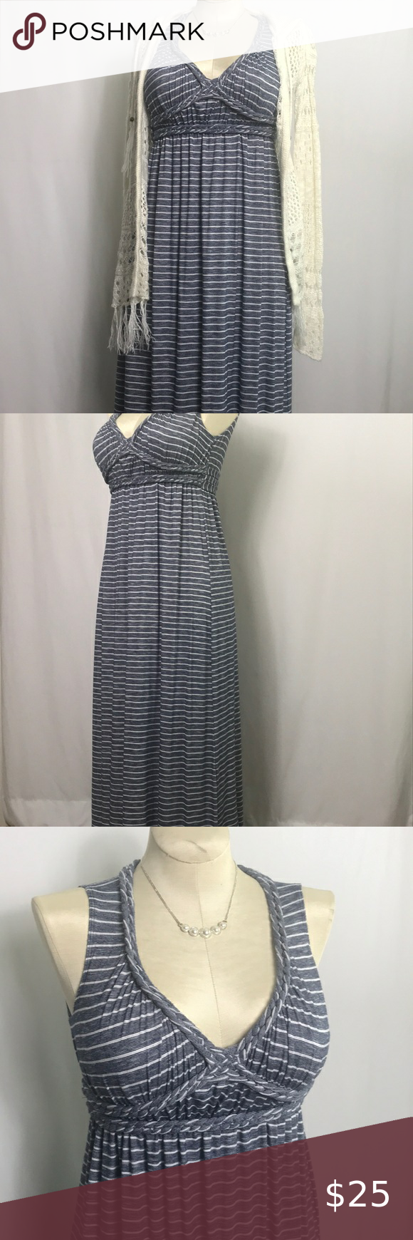 Max Studio Couper Striped Casual Maxi Dress In 2020 Maxi Dresses Casual Maxi Dress Max Studio Dress [ 1740 x 580 Pixel ]