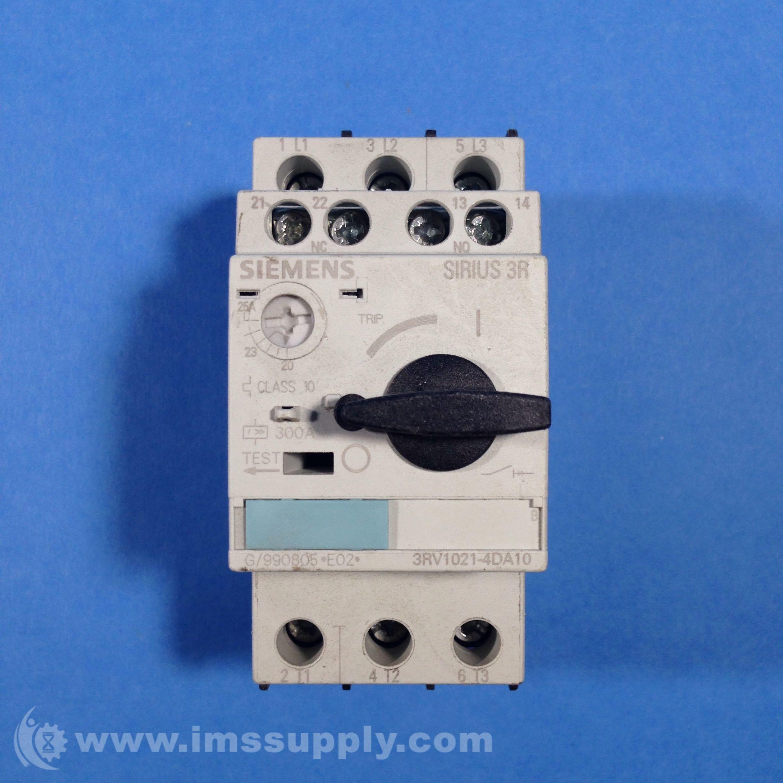 Siemens 3rv1021 4da10 Circuit Breaker 3 Poles 690v 11kw 25a Siemens Circuit Breakers