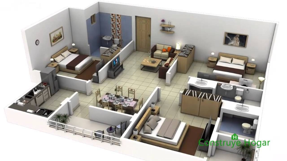 Plano Casa 200 M2 Dos Departamentos Buscar Con Google Apartment Floor Plans 3d House Plans Floor Plan Design