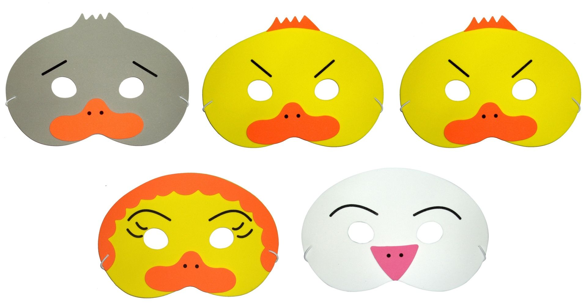 Free coloring pages for the ugly duckling - The Ugly Duckling Storytelling Masks
