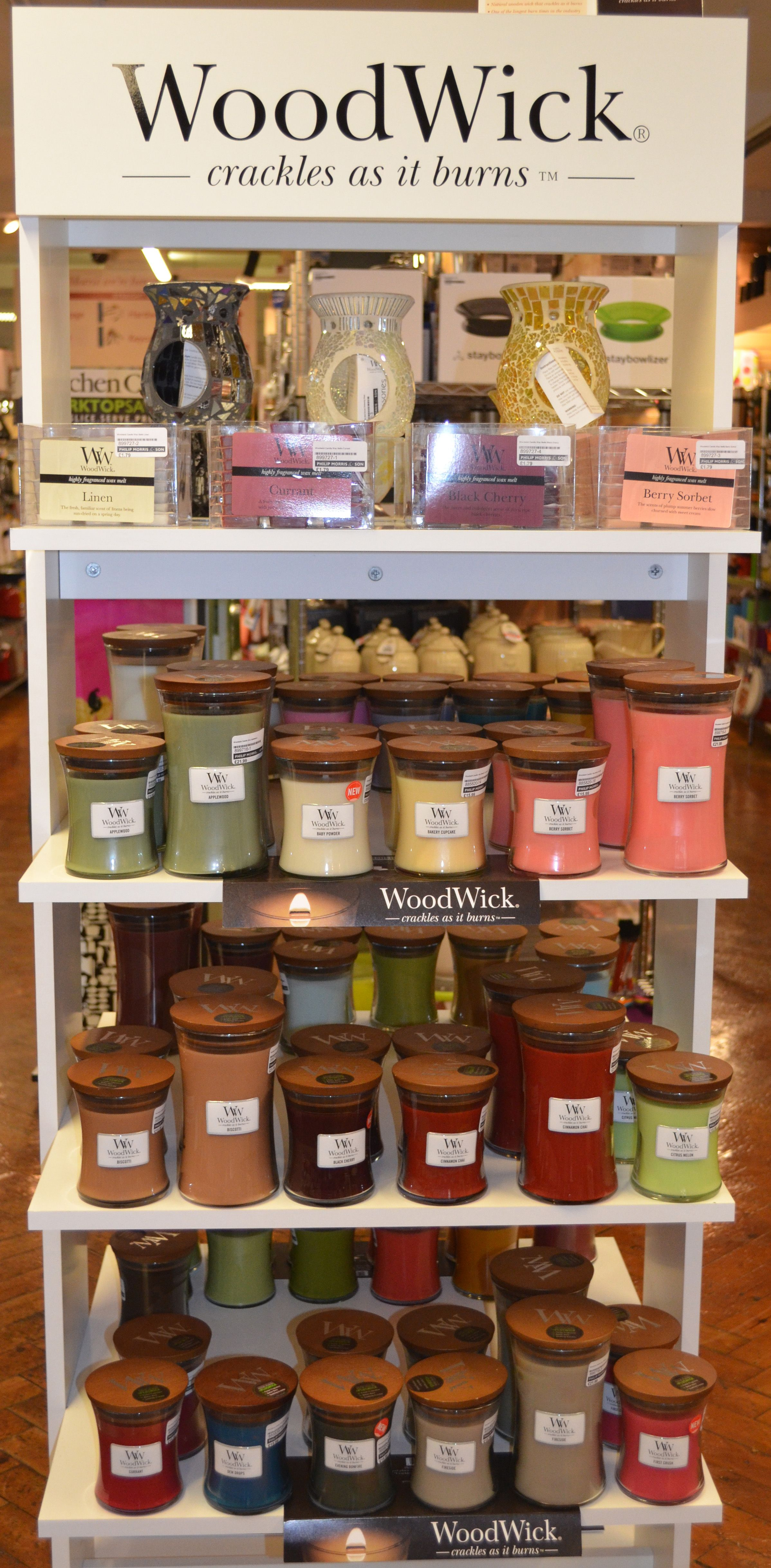 Beautiful Woodwick Candles On Display In Our Hereford Store They