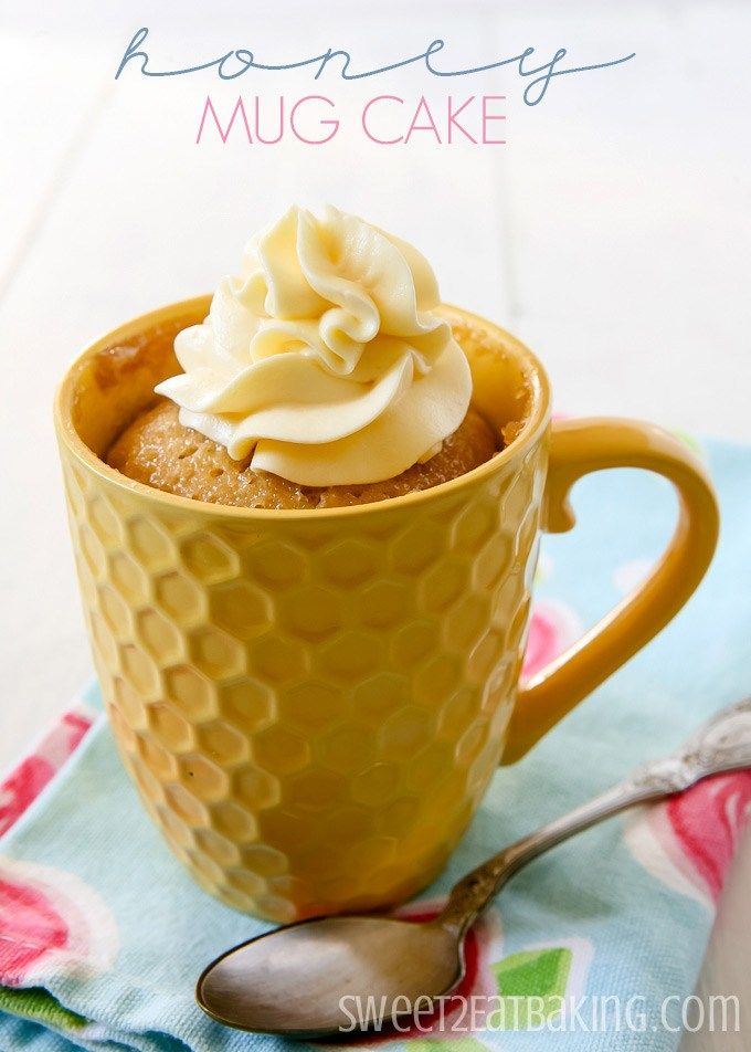 Honey Mug Cake #honeycake