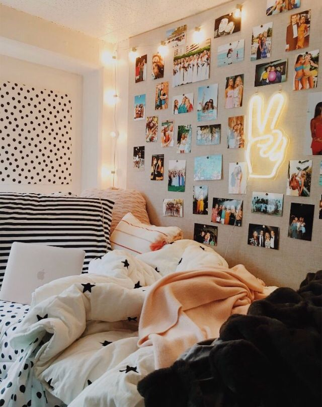 cozy room with photo wall images