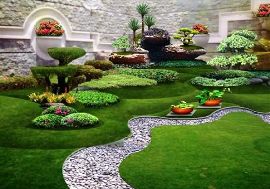 Gambar Tanaman Hias Di Dalam Taman Pools Garten Taman Modern