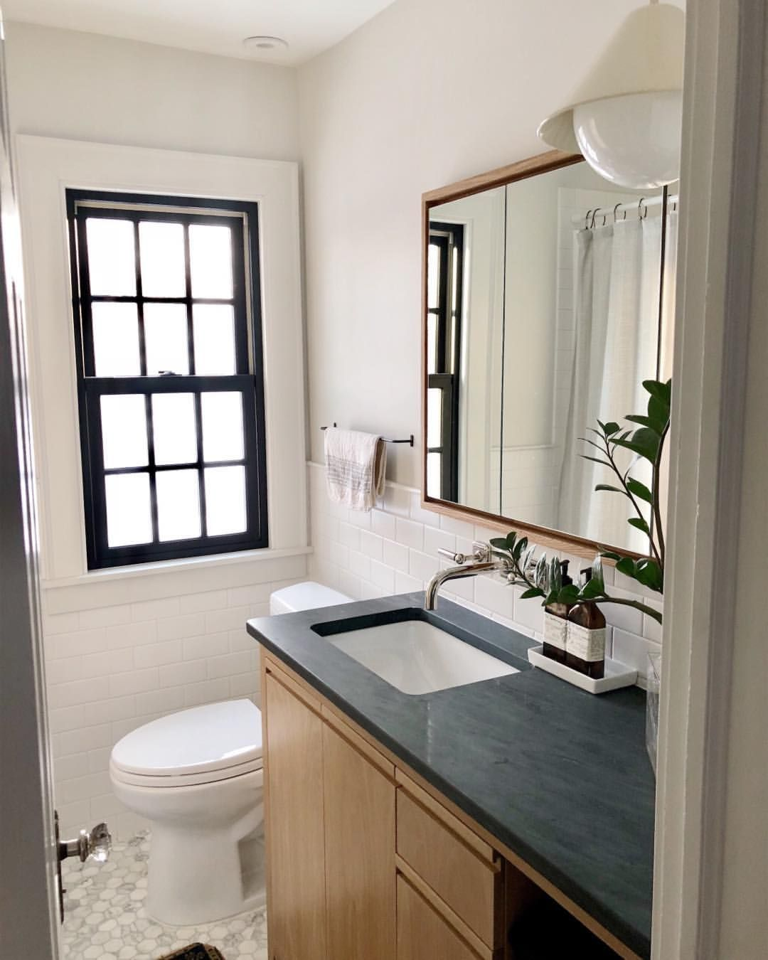 This Little Bathroom Was An Add On To Our Original Renovation Plans After We Realized It Would Be A Lot Simp Pretty Bathrooms Bathrooms Remodel Bathroom Decor