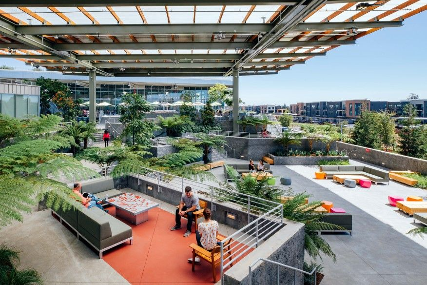 Facebook Reveals Frank Gehry Designed Hq Expansion Architect Magazine Architecture Technology Building Roof Garden Architecture Campus Design Frank Gehry