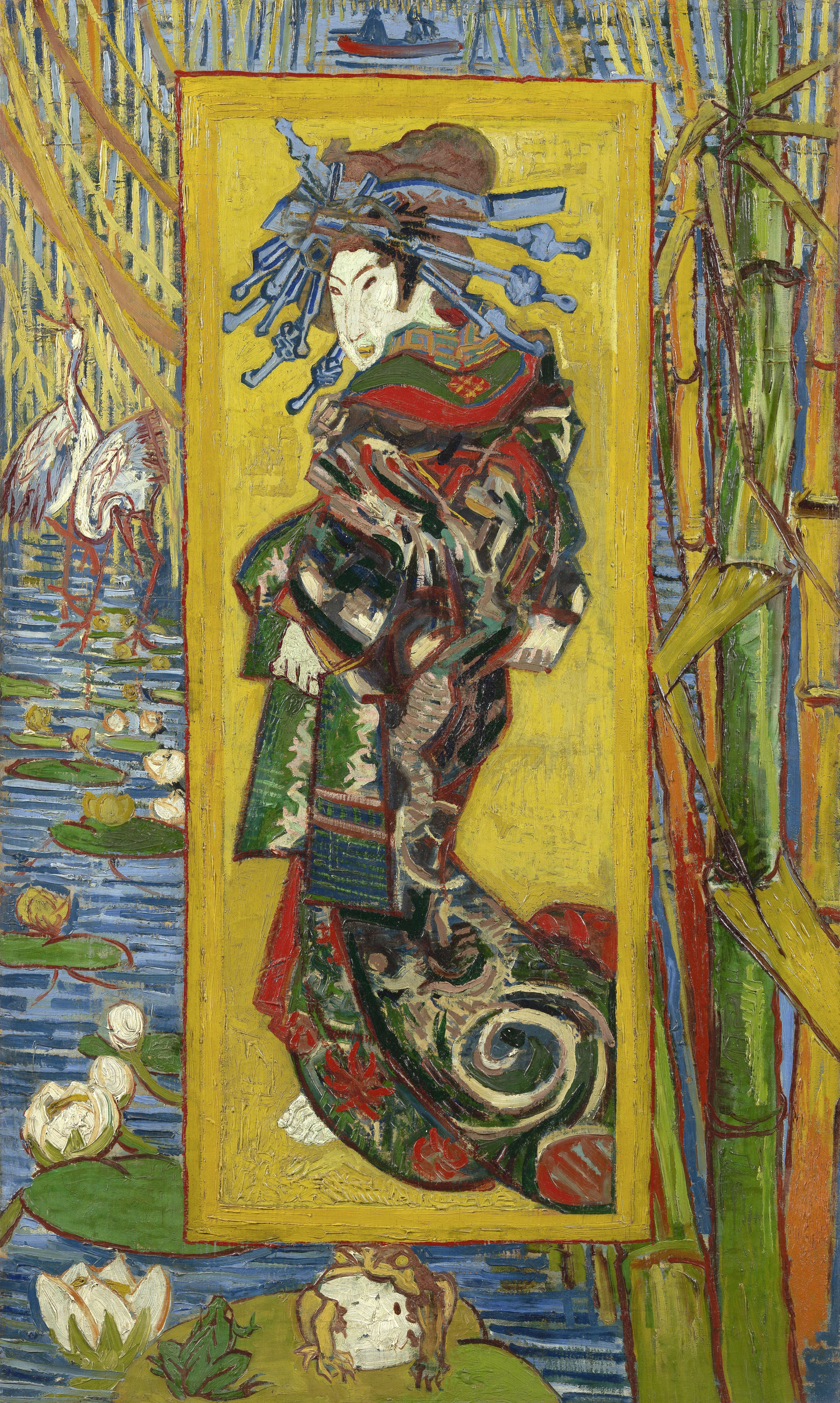 Vincent van Gogh, Oiran, una cortesana Oiran japonesa vestida con un ...