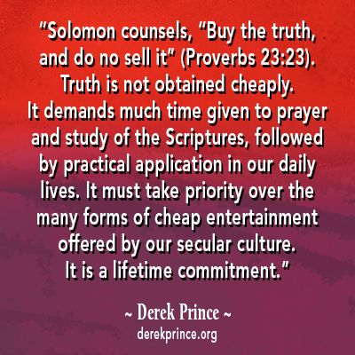 derek prince talks about a lifetime commitment of studying the