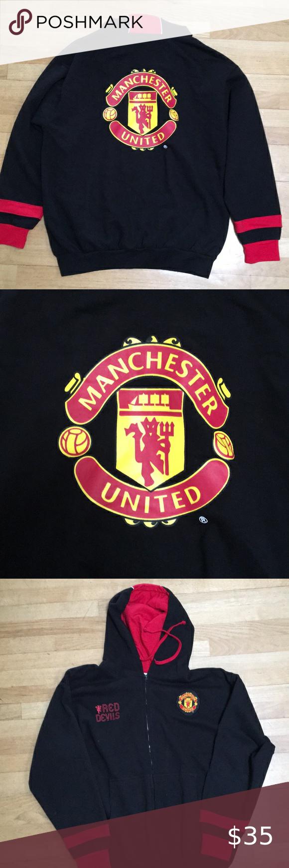Manchester United Red Devils Hoodie Sweatshirt Xl In 2020 Sweatshirts Hoodie Manchester United Jacket Sweatshirts