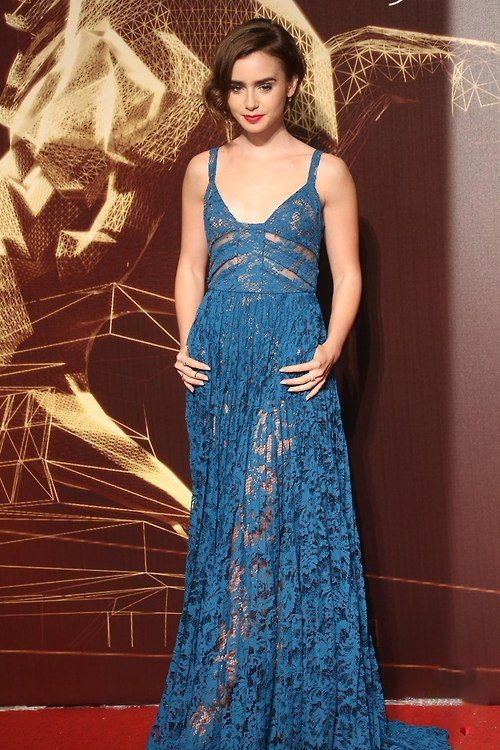 Lily Collins wears Elie Saab – 2014 Golden Horse Awards - FASHION SIZZLE BLOG