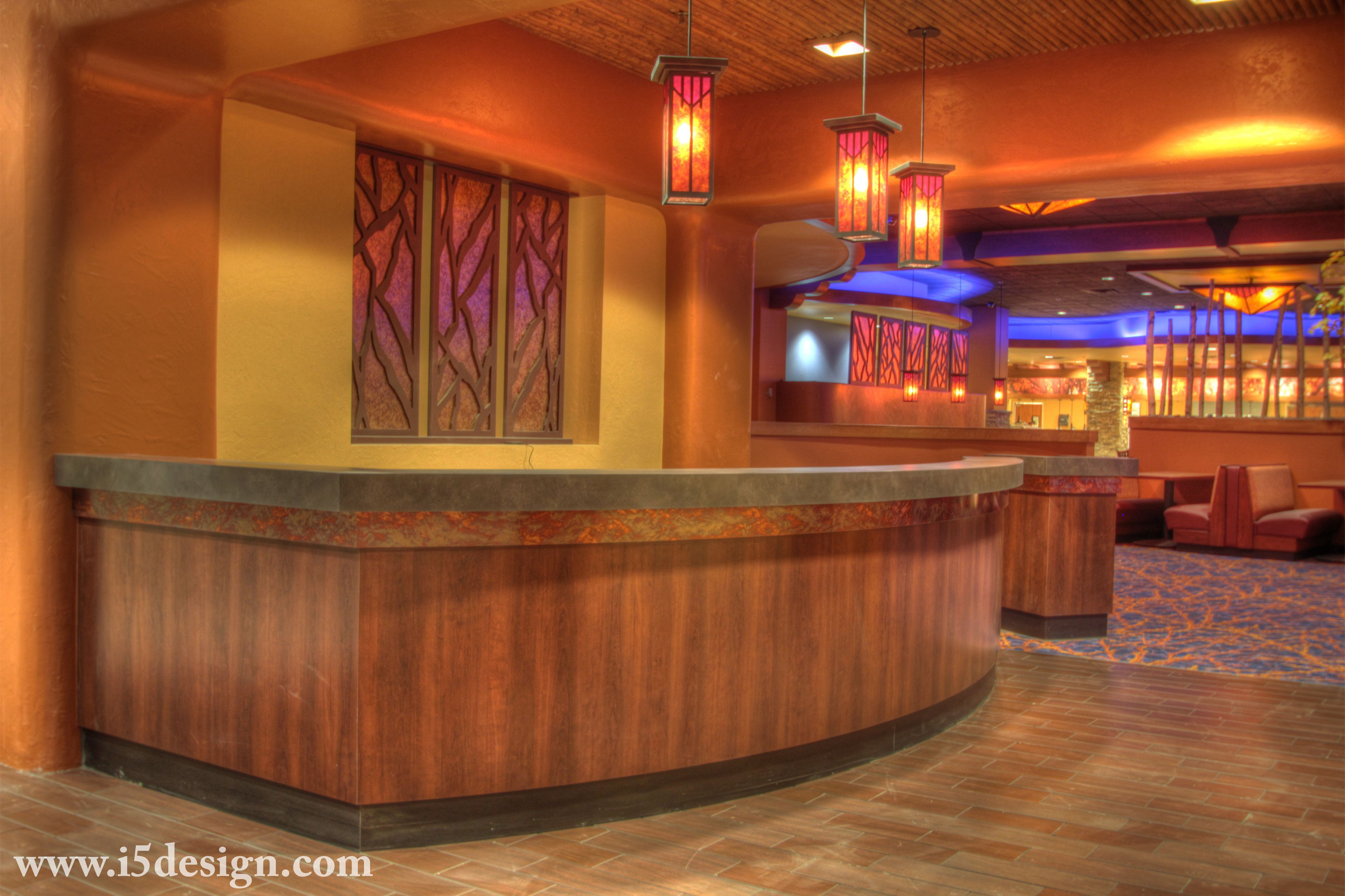 Formica® Laminate 5904 Wild Cherry at Feast Buffet at Santa Ana Star Casino. Architecture & Photography: I-5 Design & Manufacture