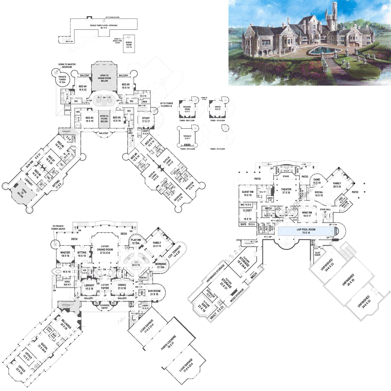 Balmoral Castle Plans Luxury Home Plans Mansion Floor Plan Castle Plans Luxury House Plans
