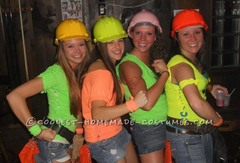 Cute Girl Group Halloween Costume Idea Construction Workers ... This website is the Pinterest of costumes  sc 1 st  Pinterest & Cute Girl Group Halloween Costume Idea: Construction Workers ...