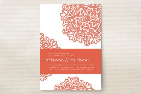 Love Blossoms Wedding Invitations by guess what? at minted.com, $280  Enjoy 15% off wedding stationery orders $200+, 10% off $150+. Code: RING2014, exp 2/3.